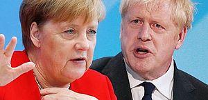 Angela Merkel e Boris Johnson vão se encontrar para discutir brexit