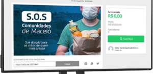 Voluntários fazem arrecadação virtual para compra e distribuição de cestas básicas em Maceió