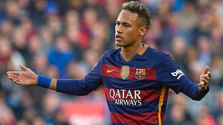 Neymar quando jogou no Barcelona