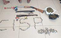 Operação conjunta apreende armas e drogas em Murici
