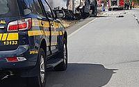 Imagem registrada na última quarta, no acidente envolvendo a carreta na BR-101, em Messias