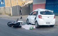 Vídeo mostra momento do acidente em que motociclista morreu no último sábado