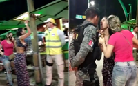 Após confusão na orla, agentes de segurança são questionados por não usar máscaras
