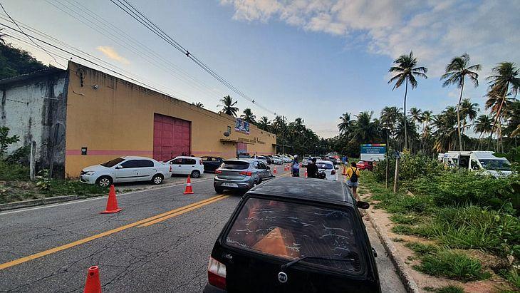A operação foi montada na Avenida Pierre Chalita