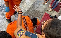 Menino de 5 anos cai em bueiro no Centro de Maceió e é socorrido pelos Bombeiros