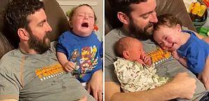Vídeo: Garotinho com síndrome de Down conhece sua irmã recém-nascida e não consegue parar de sorrir