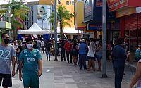 Centro de Maceió fica lotado no primeiro dia de reabertura do comércio; vídeo