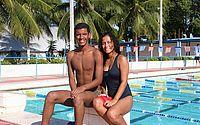 Abraão e Estephany fazem parte das seleções masculina e feminina de natação de Alagoas