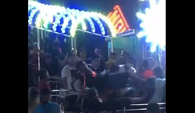 Na noite dessa quarta-feira (18), o parque foi palco de uma confusão generalizada