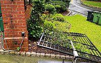 Dwayne Johnson, o 'The Rock', arranca portão de casa após queda de energia; vídeo
