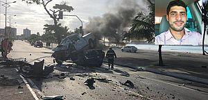 Tiago dirigia a caminhonete que colidiu com carros parados num semáforo.