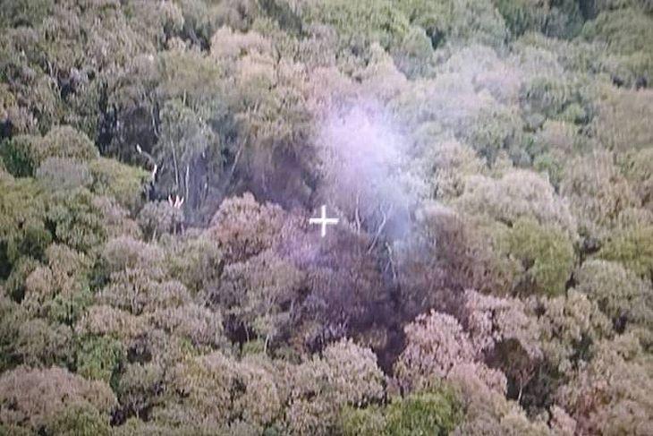 Incêndio causado por queda de aeronave em região de mata na serra da Cantareira