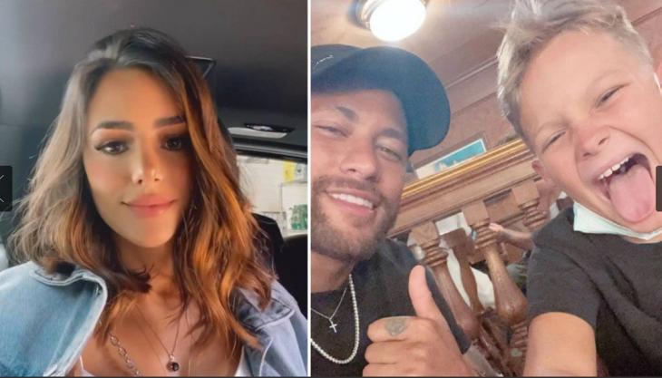 Neymar e a atual influenciadora digital Bruna Biancardi