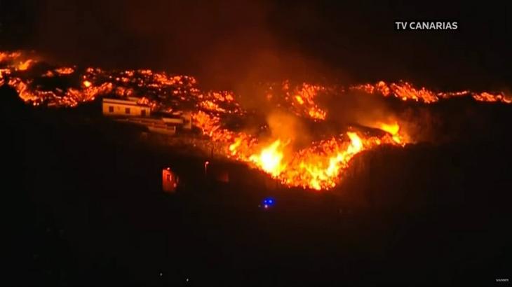 Imagens de setembro do vulcão em La Palma