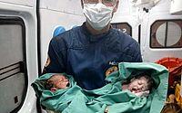 Socorristas do Samu fazem parto de gêmeos dentro de ambulância