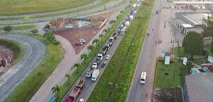Caminhoneiros protestam em rodovia no Pará por redução do ICMS sobre diesel