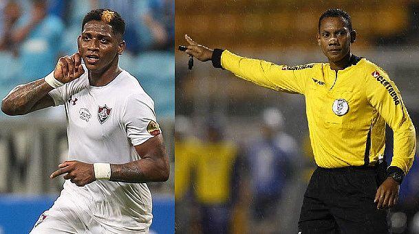 Yony González e o árbitro Márcio Chagas, vítimas de racismo no futebol