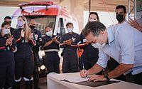 Governador assina ordem de serviço para Base Descentralizada do Samu e Corpo de Bombeiros