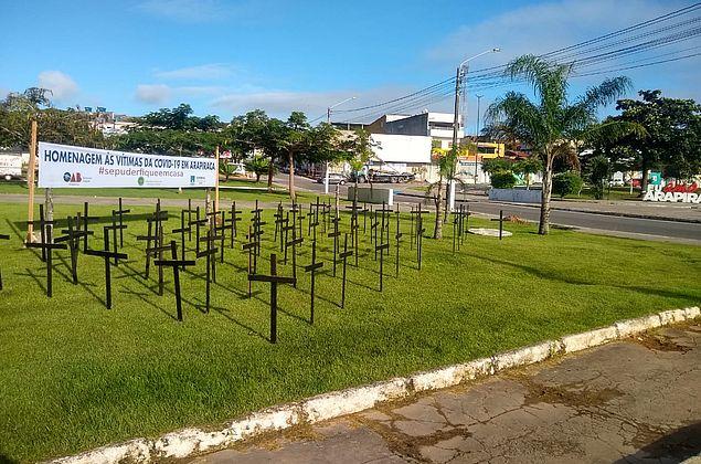 Arapiraca: Defensoria Pública, Coren e OAB promovem ato simbólico em homenagem às vítimas do Covid-19