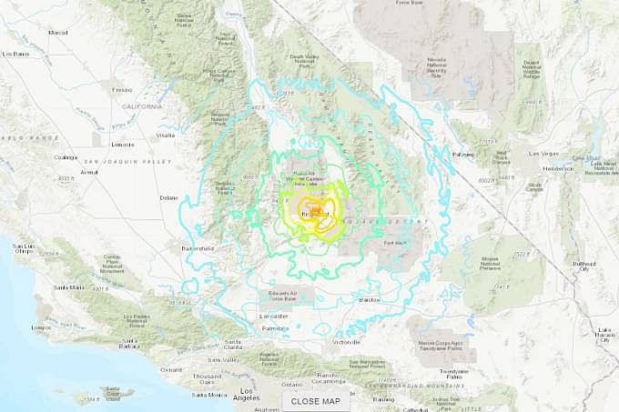 Tremor foi registrado em Ridgecrest, no Deserto do Mojave, a cerca de 160 quilômetros de Los Angeles, a uma profundidade de 8 km - 04/07/2019