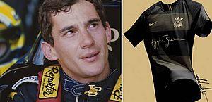 Camisa do Corinthians homenageia Ayrton Senna