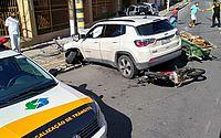 Vídeo: acidente entre carro e moto deixa homem ferido na Pajuçara
