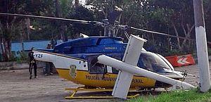 Helicóptero da PRF faz pouso forçado no interior da Bahia e piloto se fere
