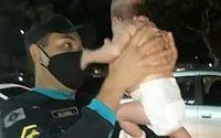 Bebê engasgada é socorrida por policial militar em Fortaleza; vídeo