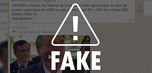 É falso que relatório do TCU questione mortes por Covid-19 no Brasil