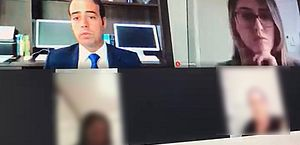 Juiz Lucas Dória realizou audiência virtual envolvendo violência doméstica no último dia 27
