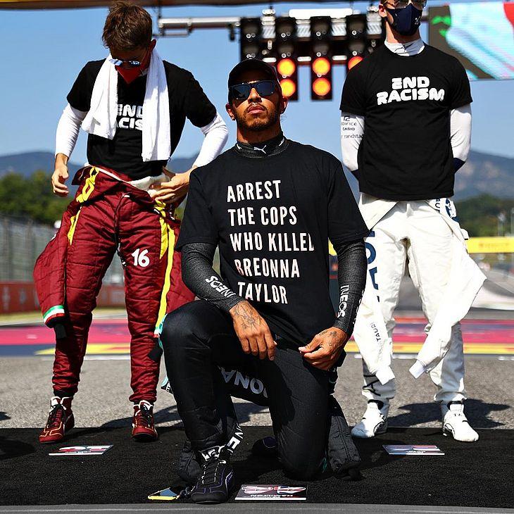 Hamilton tem se manifestado firmemente contra os casos de racismo pelo mundo