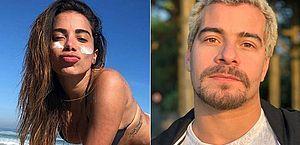 Anitta fala sobre beijos em Thiago Martins durante gravação de novela