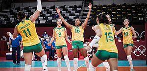 Olimpíadas: meninas do Brasil passam pelas dominicanas e vencem pela 2ª vez no vôlei