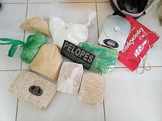Crack e cocaína apreendida em Arapiraca