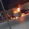 Vídeo: carrinho de churros pega fogo em praça em Campo Alegre
