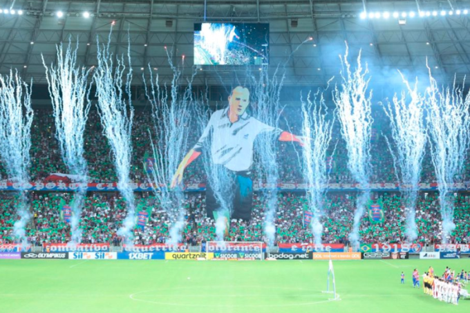 Rogério Ceni é homenageado antes de partida entre Fortaleza e São Paulo, pelo Brasileiro de 2019