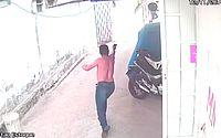 Vídeo: assaltante é recebido a tiros por dono de empresa no Ceará