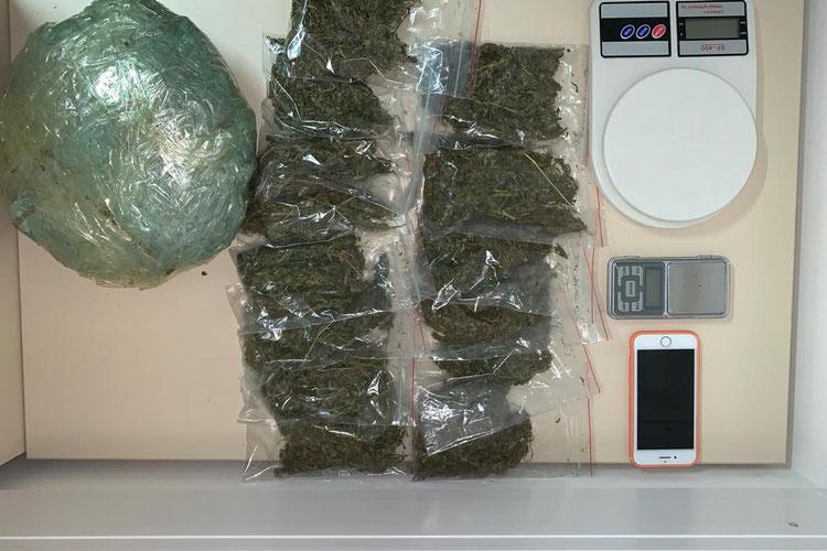 Casal de jovens é preso com mais de 1 kg de droga no Pinheiro