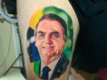 Alagoano é apoiador do presidente e marcou no corpo admiração pelo político